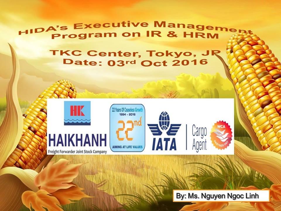 HK HAN tham gia khóa học về nhân sự tại Nhật Bản - tháng 10.2016.