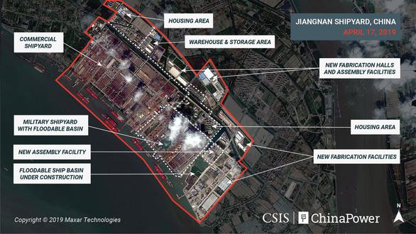 """Ảnh vệ tinh hé lộ vũ khí """"khủng"""" của Trung Quốc"""