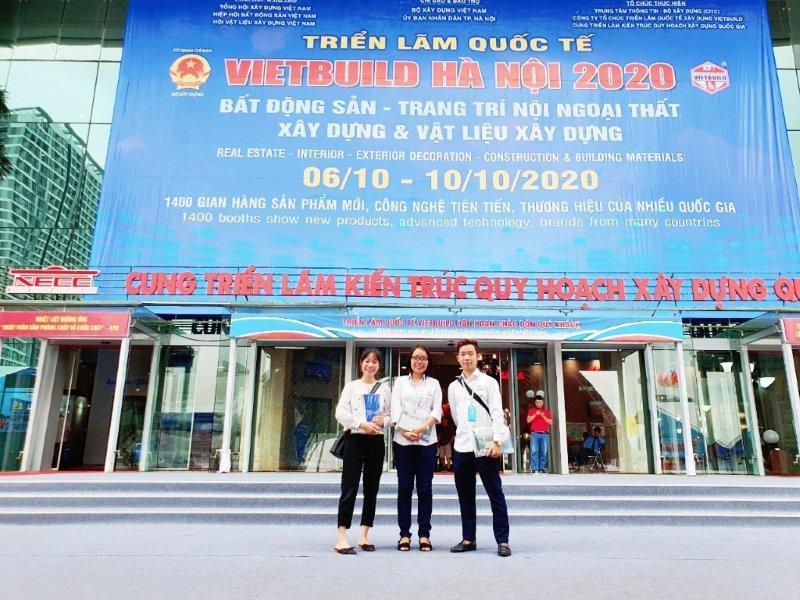Đội Sales văn phòng Hà Nội tham dự triển lãm Quốc tế VIETBUILD 2020